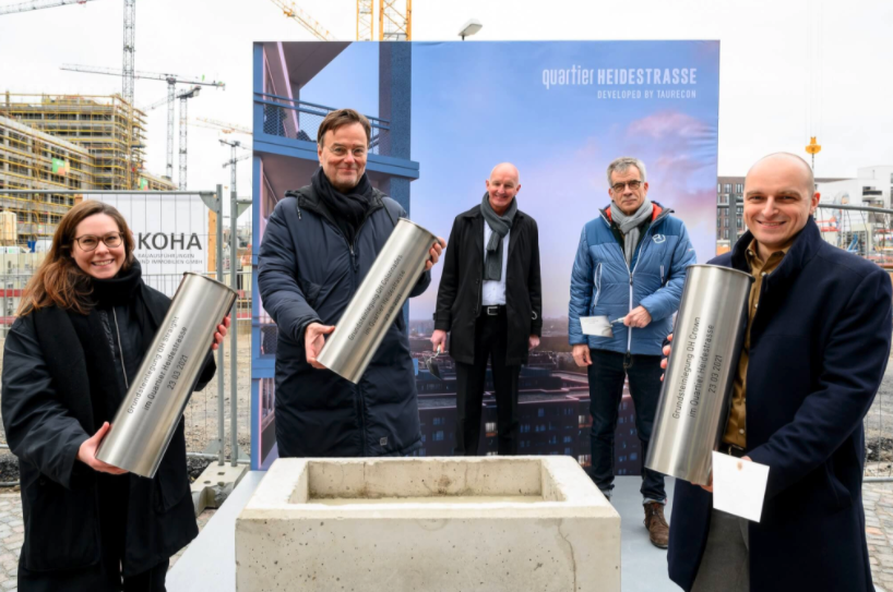 Foundation Stone–laying Ceremony for Three Buildings in Quartier Heidestrasse