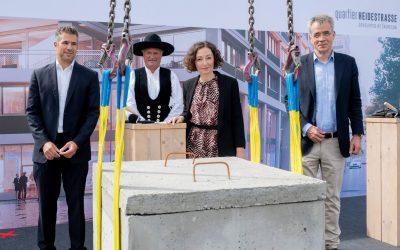 Quartier Heidestrasse: Letzter Grundstein für Bürogebäude QH Track gelegt